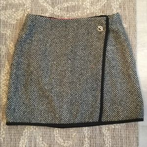 Tommy Hilfiger Tweed Wrap Skirt
